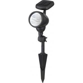 GLOBO 33026 | Soglo96 Globo fali, leszúrható lámpa napelemes/szolár, billenthető 3x LED fekete, átlátszó