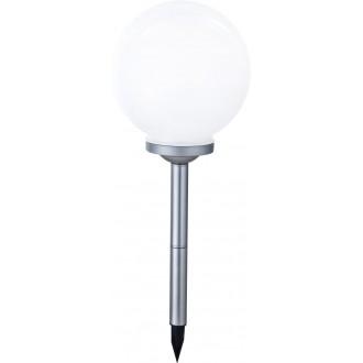 GLOBO 33793 | Soglo83 Globo leszúrható lámpa napelemes/szolár, színváltós 4x LED IP44 ezüst, fehér