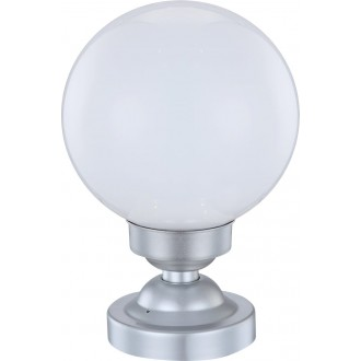 GLOBO 33794 | Soglo92 Globo asztali lámpa 29,5cm napelemes/szolár 4x LED IP44 ezüst, fehér