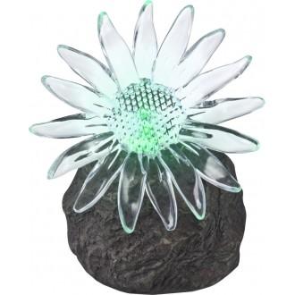 GLOBO 33912 | Soglo85 Globo kő formájú lámpa napelemes/szolár, színváltós 1x LED IP44 szürke, átlátszó