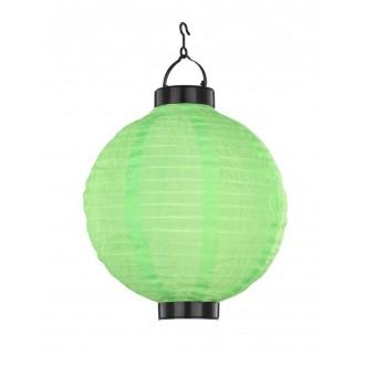 GLOBO 33970G | Soglo84 Globo függeszték lámpa napelemes/szolár 1x LED IP44 zöld, fekete