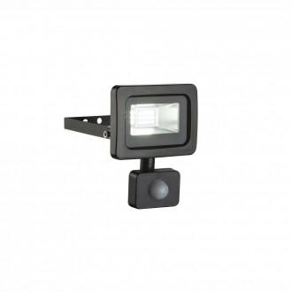GLOBO 34003S | Callaqui Globo fényvető lámpa mozgásérzékelő elforgatható alkatrészek 1x LED 550lm 6000K IP44 fekete, átlátszó