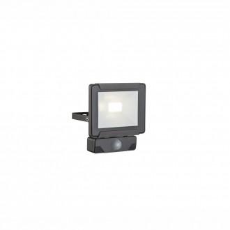 GLOBO 34009S | Urmia Globo fényvető lámpa mozgásérzékelő elforgatható alkatrészek 1x LED 800lm 4000K IP44 fekete