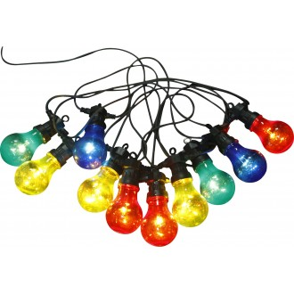 GLOBO 3400S | Nirvana Globo dekor lámpa 10x LED 180lm IP44 fekete, többszínű