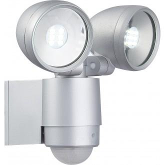 GLOBO 34105-2S | Radiator-II Globo fényvető lámpa mozgásérzékelő elforgatható alkatrészek 2x LED 660lm 6500K IP44 alumínium, átlátszó
