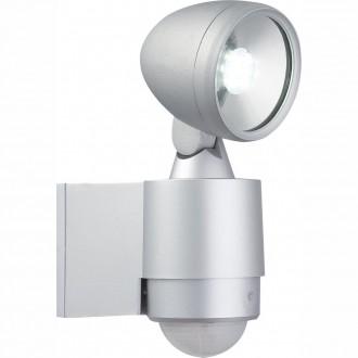 GLOBO 34105S | Radiator-II Globo fényvető lámpa mozgásérzékelő elforgatható alkatrészek 6x LED 240lm 6500K IP44 ezüst, átlátszó