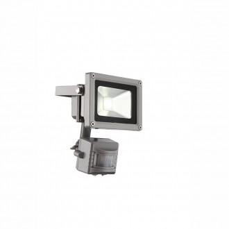 GLOBO 34107S | Radiator-IV Globo fényvető lámpa mozgásérzékelő elforgatható alkatrészek 1x LED 550lm 6400K IP44 szürke, átlátszó