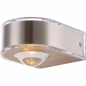 GLOBO 34179 | Dek Globo fali lámpa 1x LED 180lm 3000K IP44 nemesacél, rozsdamentes acél