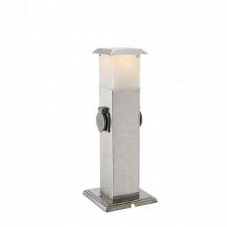 GLOBO 37003-2 | Pietra_IV Globo álló lámpa 40cm dugaljjal ellátott 1x E14 IP44 nemesacél, rozsdamentes acél, fehér