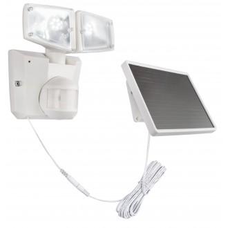 GLOBO 3718S | Radiator-Sol-III Globo fényvető lámpa mozgásérzékelő napelemes/szolár, billenthető 2x LED 418lm 6500K IP44 fehér, áttetsző