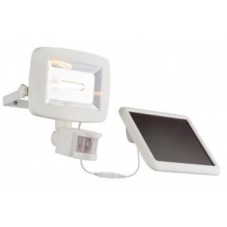 GLOBO 37200S | Solar-G Globo fényvető lámpa mozgásérzékelő napelemes/szolár, billenthető 1x LED 600lm 3500K IP44 fehér
