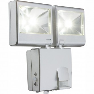 GLOBO 3724S | Solar_G Globo fali lámpa mozgásérzékelő napelemes/szolár 2x LED 180lm 5000K IP44 ezüst