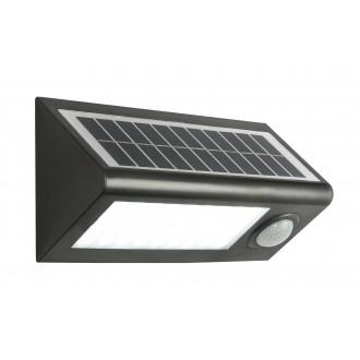 GLOBO 3727S | Solar-G Globo fényvető lámpa mozgásérzékelő napelemes/szolár 36x LED 320lm 6500K IP65 antracit