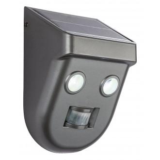 GLOBO 3728S | Solar-G Globo fényvető lámpa mozgásérzékelő napelemes/szolár 2x LED 180lm 6500K IP65 antracit