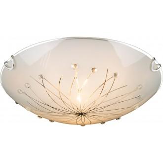 GLOBO 40402-2 | Calimero_I Globo mennyezeti lámpa 2x E27 króm, metál fehér, átlátszó
