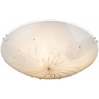 GLOBO 40402-3 | Calimero-I Globo mennyezeti lámpa 3x E27 króm, fehér, átlátszó