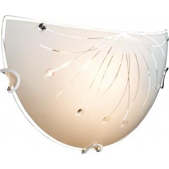 GLOBO 40402W | Calimero-I Globo fali lámpa 1x E27 króm, fehér, átlátszó