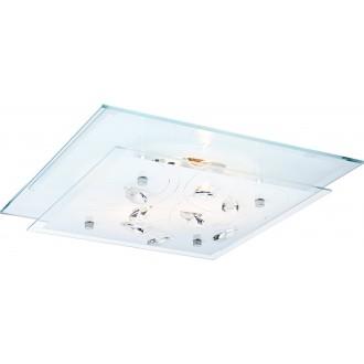 GLOBO 40408-2 | Jasmina Globo mennyezeti lámpa 2x E27 króm, tükör, opál