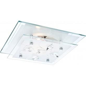 GLOBO 40408 | Jasmina Globo mennyezeti lámpa 1x E27 króm, tükör, opál