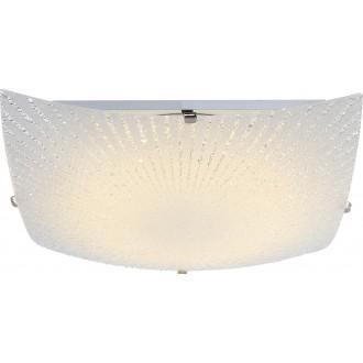 GLOBO 40449 | Vanilla Globo mennyezeti lámpa 1x LED 1200lm 3500K matt nikkel, metál fehér, kristály