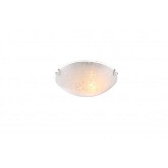 GLOBO 40463-1 | Tornado Globo fali, mennyezeti lámpa 1x E27 króm, fehér, áttetsző
