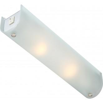 GLOBO 4101 | Line-III Globo tükörmegvilágító lámpa kapcsoló 2x E14 króm, opál
