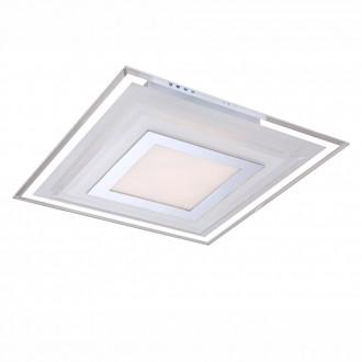 GLOBO 41684-3 | Amos Globo mennyezeti lámpa 1x LED 720lm 3000K króm, fehér, átlátszó