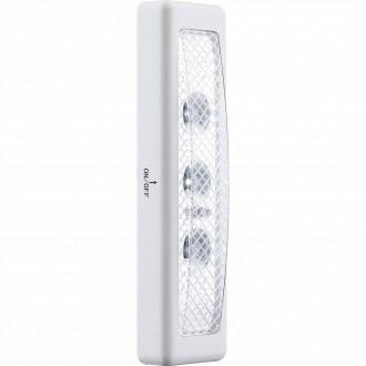 GLOBO 42422 | Spooky Globo fali lámpa kapcsoló 3x LED 12lm 10000K ezüst