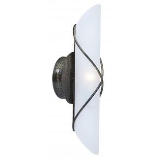 GLOBO 44137-1 | Rania Globo falikar lámpa 1x E14 antikolt fekete, opál