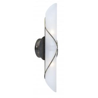GLOBO 44137-2 | Rania Globo falikar lámpa 2x E14 antikolt fekete, opál