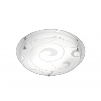 GLOBO 48060-2   Kristjana Globo mennyezeti lámpa 2x E27 króm, metál fehér, tükör