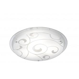 GLOBO 48060-3   Kristjana Globo mennyezeti lámpa 3x E27 króm, metál fehér, tükör