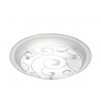 GLOBO 48060 | Kristjana Globo mennyezeti lámpa 1x E27 króm, fehér, tükör