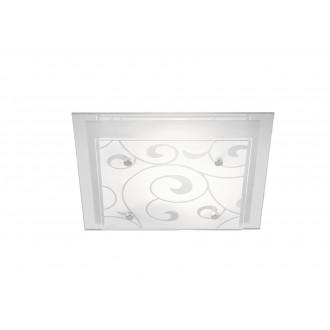 GLOBO 48062-2   Dia_II Globo mennyezeti lámpa 2x E27 króm, metál fehér, tükör