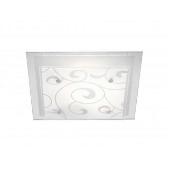 GLOBO 48062   Dia_II Globo mennyezeti lámpa 1x E27 króm, metál fehér, tükör