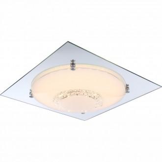 GLOBO 48251-18 | Yucatan Globo mennyezeti lámpa 1x LED 1440lm 4000K króm, fehér, átlátszó