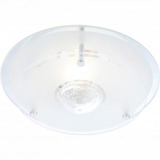 GLOBO 48327   Malaga_II Globo mennyezeti lámpa 1x E27 króm, átlátszó