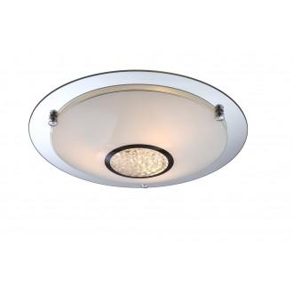 GLOBO 48339-3 | Edera Globo mennyezeti lámpa 3x E27 króm, fehér, átlátszó