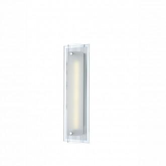 GLOBO 48510-6 | Specchio-II Globo fali lámpa kapcsoló 1x LED 576lm 4000K króm, fehér, átlátszó
