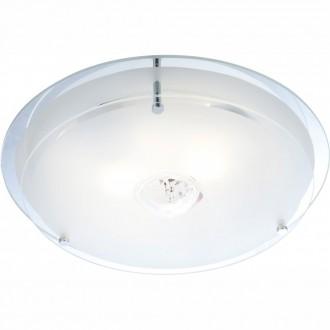 GLOBO 48527   Malaga_II Globo mennyezeti lámpa 2x E27 króm, átlátszó