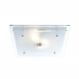 GLOBO 48528   Malaga Globo mennyezeti lámpa 2x E27 króm, átlátszó