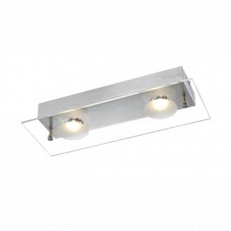 GLOBO 49200-2 | Berto Globo fali lámpa 2x LED 664lm 3000K alumínium, átlátszó, fehér