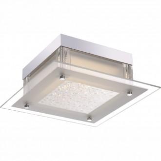 GLOBO 49310 | Leah Globo mennyezeti lámpa 1x LED 1190lm 4000K króm, fehér, átlátszó