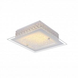 GLOBO 49349 | Heidir Globo mennyezeti lámpa 1x LED 1030lm 3100K króm, fehér, átlátszó