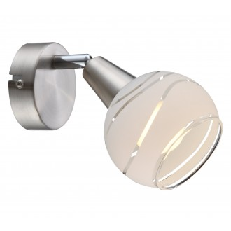 GLOBO 54341-1 | Elliott Globo spot lámpa elforgatható alkatrészek 1x E14 400lm 3000K matt nikkel, króm, savmart