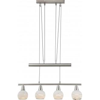 GLOBO 54341-4Z | Elliott Globo függeszték lámpa ellensúlyos, állítható magasság 4x E14 1600lm 3000K matt nikkel, króm, savmart