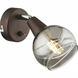 GLOBO 54347-1 | Roman-Lara-Isla Globo spot lámpa kapcsoló elforgatható alkatrészek 1x E14 196lm 3000K bronz, füst, króm