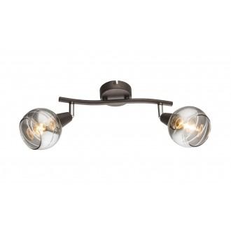 GLOBO 54347-2 | Roman-Lara-Isla Globo spot lámpa elforgatható alkatrészek 2x E14 392lm 3000K bronz, füst, króm