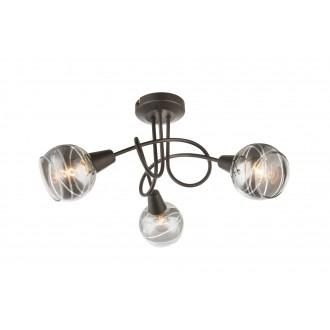 GLOBO 54347-3 | Roman-Lara-Isla Globo spot lámpa 3x E14 588lm 3000K bronz, füst