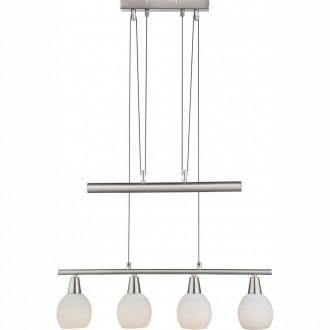 GLOBO 54351-4ZRGB | Elliott Globo függeszték lámpa távirányító szabályozható fényerő, színváltós, ellensúlyos, állítható magasság 4x E14 800lm RGBK matt nikkel, fehér
